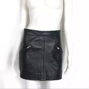 Zara women's lambs lether skirt sz xs